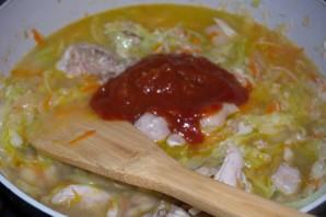 Курица с овощами и кашей - фото шаг 6