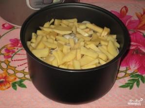 Картошка с вешенками в мультиварке - фото шаг 3