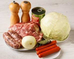 Капустная солянка с мясом - фото шаг 1