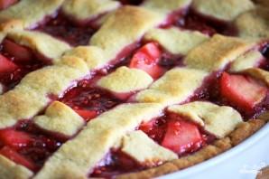 Торт Линцер с малиной и яблоками - фото шаг 12