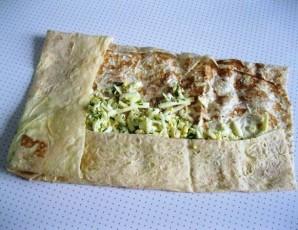 Лаваш с сыром на сковороде - фото шаг 3