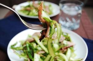 Салат овощной с ветчиной - фото шаг 7
