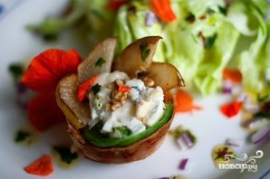 Салат в форме цветка - фото шаг 3