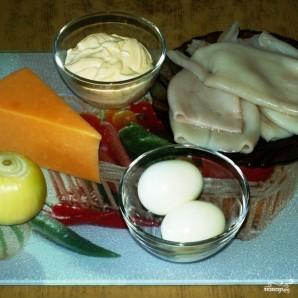 Салат из кальмаров с сыром - фото шаг 1