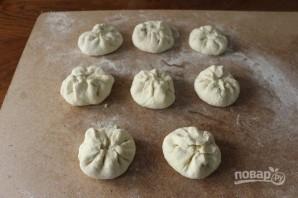 Хычины с картошкой - фото шаг 5