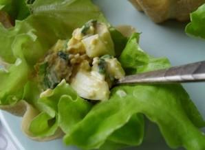Тарталетки с печенью трески и яйцом - фото шаг 7