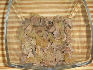 Печеночный салат слоями - фото шаг 4