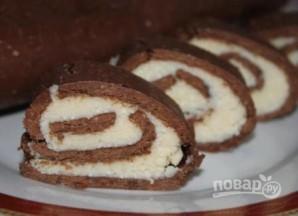 Шоколадный рулет из печенья - фото шаг 11