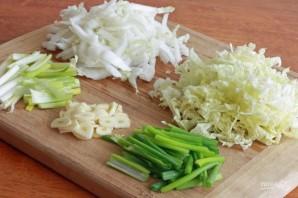 Яичная лапша со свининой и овощами - фото шаг 2