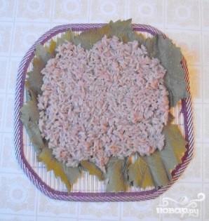 Роллы с виноградными листьями - фото шаг 2