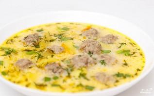 Суп с фрикадельками и сыром - фото шаг 8