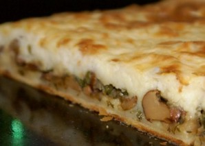 Пирог с грибами и картошкой - фото шаг 7