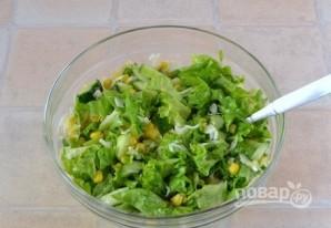 Салат из огурцов и капусты - фото шаг 4