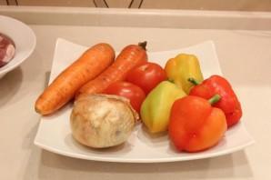 Свинина с овощами на сковороде - фото шаг 1