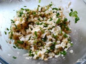 Заливной пирог с рыбой и рисом - фото шаг 3