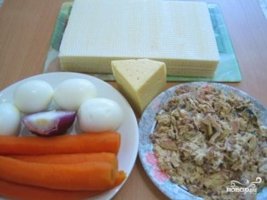 Закусочный торт из вафельных коржей - пошаговый рецепт с ...