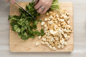 Суп-пюре из горошка и нута - фото шаг 4