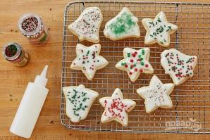 Рождественское печенье из песочного теста - фото шаг 6