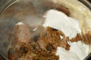 Зразы с грибами и сыром - фото шаг 4