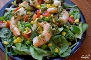 Зеленый салат с креветками - фото шаг 3