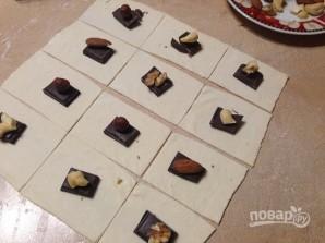 Слоеные печенья с шоколадом и орехами - фото шаг 2