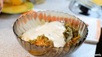 Салат из свинины с горошком - фото шаг 4