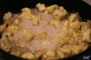 Рисовая запеканка с цветной капустой и сыром - фото шаг 1