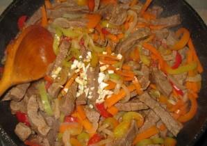 Фунчоза с говядиной и овощами - фото шаг 7