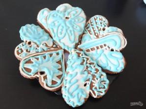Расписное новогоднее печенье - фото шаг 6