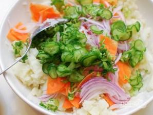 """Салат из овощей """"Сытный"""" - фото шаг 4"""