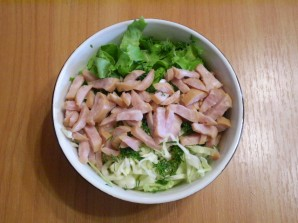 Капустный салат с майонезом - фото шаг 5