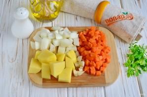 Тыквенный суп с яблоками - фото шаг 2