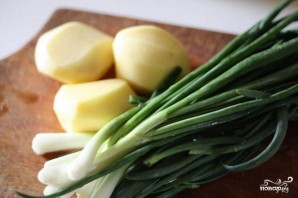 Суп-пюре из зеленого лука - фото шаг 1