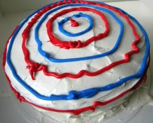 """Торт """"Капитан Америка"""" - фото шаг 5"""