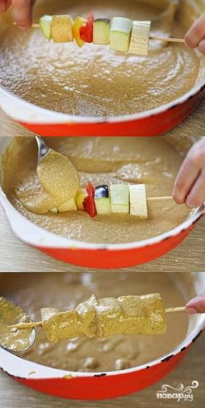 Овощной шашлык в кляре - фото шаг 10