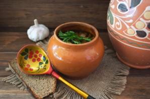 Чанахи с фасолью и грибами - фото шаг 9