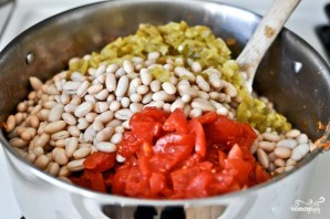 Жаркое из курицы, фасоли и овощей - фото шаг 4