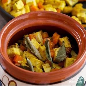 Гречка с овощами и сыром в горшочке - фото шаг 4