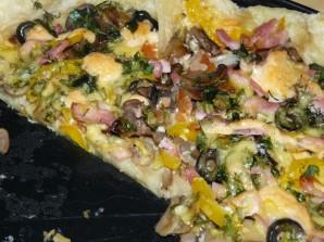 Пицца с сыром и грибами - фото шаг 3