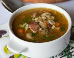 Суп с говядиной и грибами - фото шаг 4