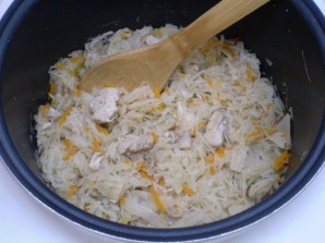 Солянка с курицей и капустой - фото шаг 6