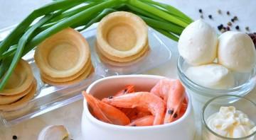 Тарталетки с креветками и сыром - фото шаг 1