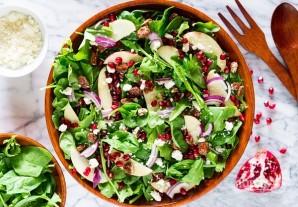Зеленый салат с гранатом - фото шаг 5