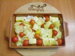 Овощи в духовке под соусом - фото шаг 3