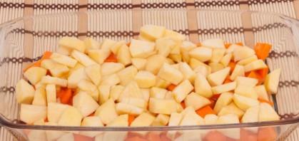 Запеченная тыква с яблоками - фото шаг 7