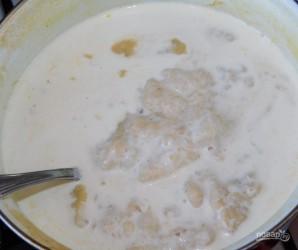 Сливочный суп-пюре с курицей и грецкими орехами - фото шаг 6