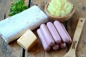 Сосиски в картофельно-сырной шубке - фото шаг 1