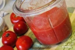 Томатный суп с сухариками - фото шаг 3