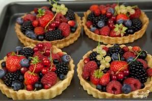 Песочные корзиночки с ягодами - фото шаг 8