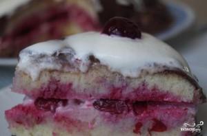 Вишневый торт со сливками - фото шаг 8